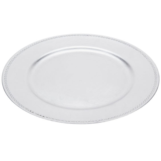 1723. Charger Plate Silver 13''