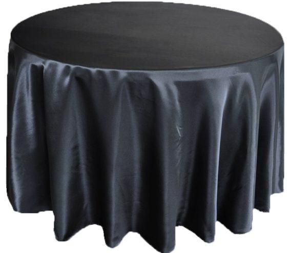 Black Satin Linen