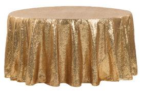Gold Satin Linen
