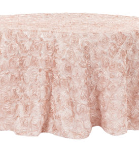 Pink Satin Table Cloth