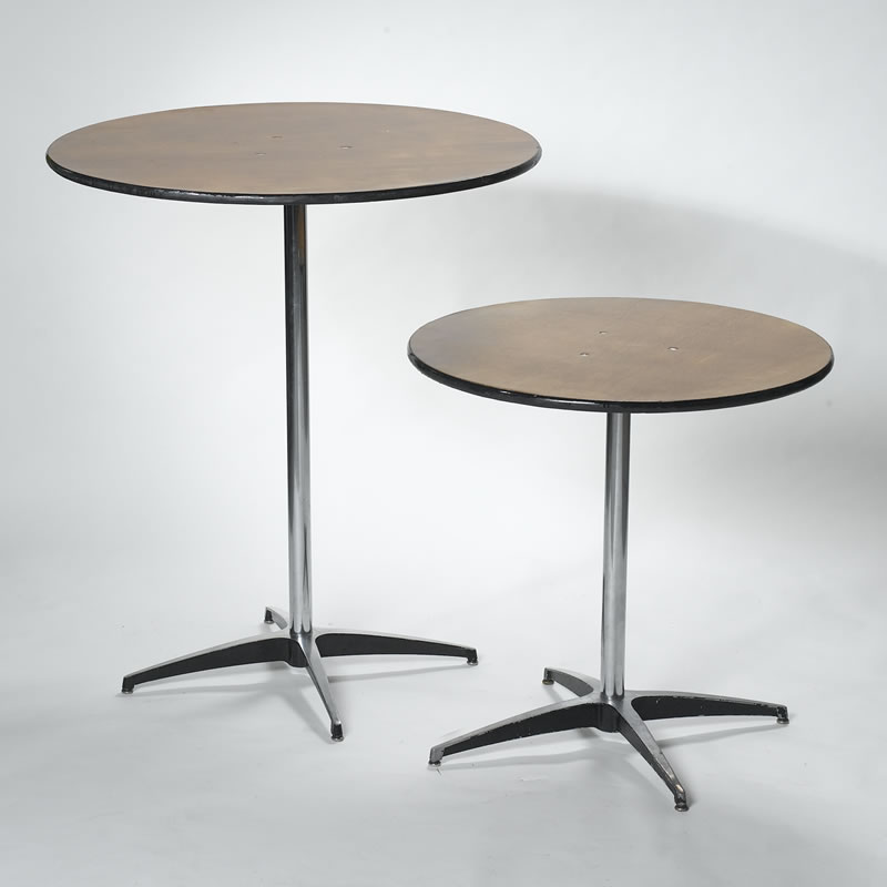 Tall Short Style Cocktail Tables In The Size Of Erentals - Tall round cocktail table
