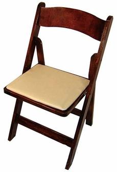 ... Wood Padded Folding Chair · Fruitwood_Tan Padding Chair