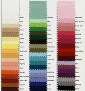 Polyester Color Chart