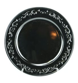 embossed-design-charger-plate-black