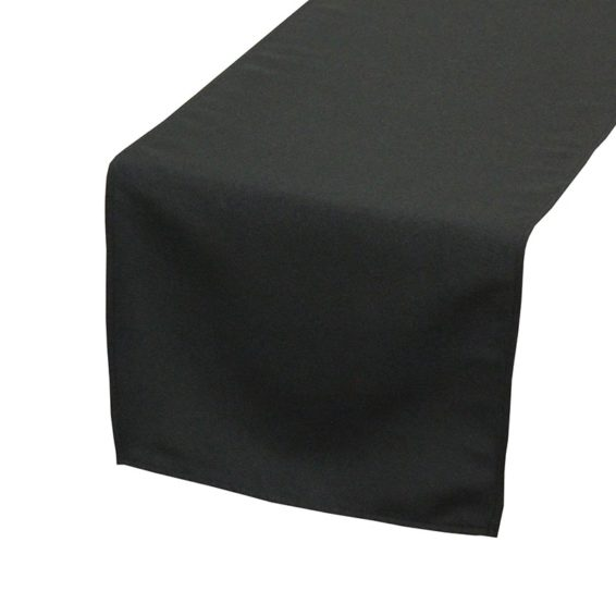 black_polyester_table_runners